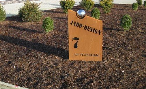 Jabo Design individuell gestaltbare Rost Säule RS87 eigener Name Deko Säulen Rostsäule rostsäulen
