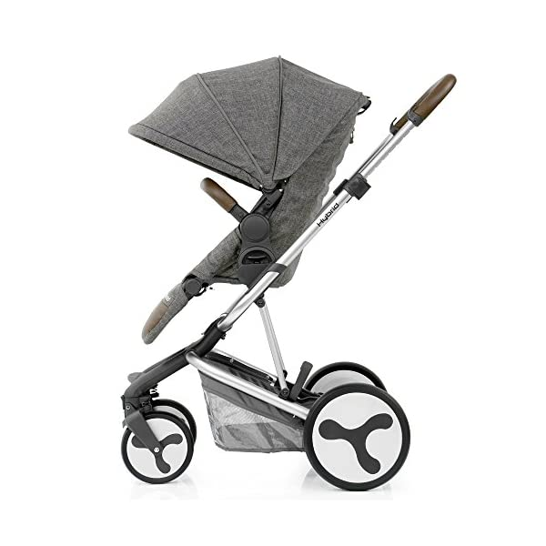BabyStyle Hybrid Edge Stroller, Stonewash Babystyle A truly unique innovative and contemporary designed single stroller Multi-position seat recline with inventive one pull 5-point harness system Removable parent or forward facing seat with bumper bar and matching apron cover 2