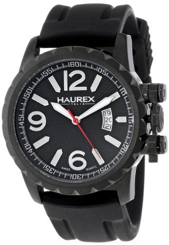 Haurex 3N502UNN - Orologio da polso da uomo, cinturino in gomma