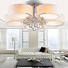 ALFRED LED moderno acrilico lampadario di cristallo 5 luci (Chrome), soffitto Modern Light Fixture Per, disimpegno, camera matrimoniale,
