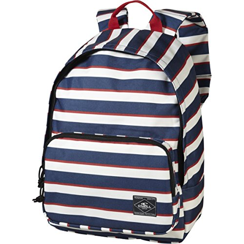 O´Neill AC Coastline Backpack - Mochila, color azul con rayas blancas