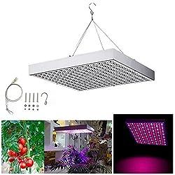 Hengda 15W LED Pflanzenlicht Pflanzenleuchte Pflanzenlampe Wachstumslampe grow lampe Zimmerpflanzen 225 LEDs Rot&Blau für Frucht Wachstum Blumen Obst Gemüse