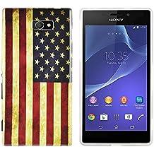 gada - Sony Xperia M2 S50H -TPU funda de protección en un diseño elegante - Los Estados Unidos de América bandera