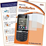 2 x mumbi Displayschutzfolie Nokia Asha 300 Schutzfolie AntiReflex antireflektierend