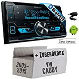 VW Caddy 2K - Kenwood DPX-X5000BT - 2DIN Bluetooth USB Autoradio - Einbauset
