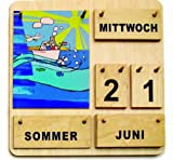 Kinder Lernkalender Dauerkalender aus Holz Made in Germany