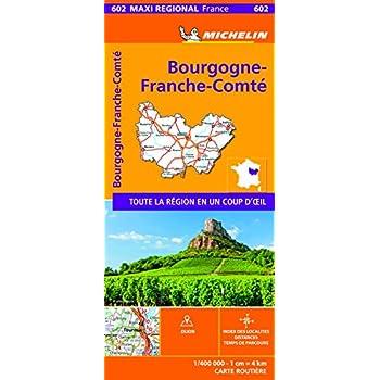 Carte Maxi Régional Bourgogne Franche-Comté Michelin 2020