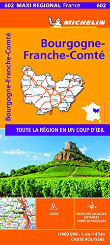 BOURGOGNE-FRANCHE-COMTE, France - Michelin Maxi Regional Map 602 (France Maxi Regional)
