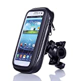 Eximtrade Universal Waterproof Bike Mount Phone Holder Pouch for Smartphones and GPS (For Smartphone 5.5')