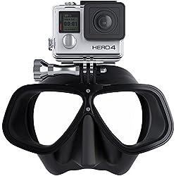 Octomask Unisexe Freediver GoPro Masque pour plongée et plongée avec Tuba, Noir, Taille Unique