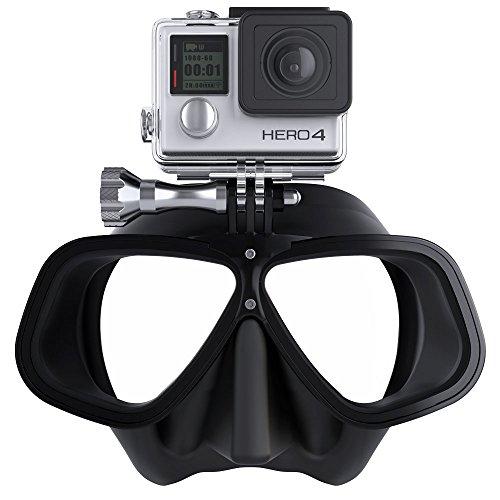 OCTOMASK Unisex Freediver GoPro máscara de Buceo y Snorkel, Color Negro, un tamaño