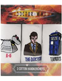 Dr Who Handkerchiefs - K-9, The Doctor & The Tardis