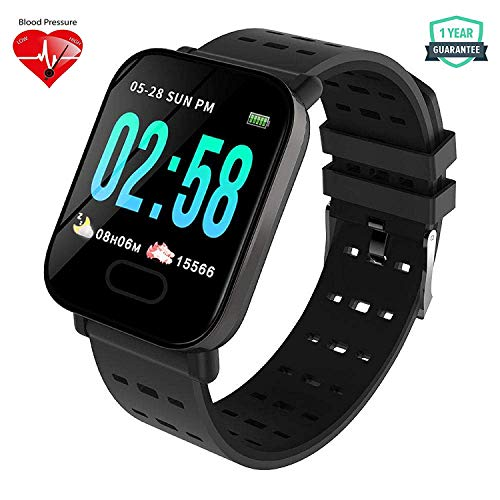 JYC A6 Health and Fitness Tracker Watch | Activity Tracker | Fitness Band | Rugged Fitness Tracker with Heart Rate, Blood Pressure/Oxygen Monitor & Big Color Display