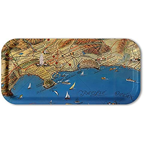 Los Angeles 1963 Whimsical 6x13 Snack Tray by Trays4Us