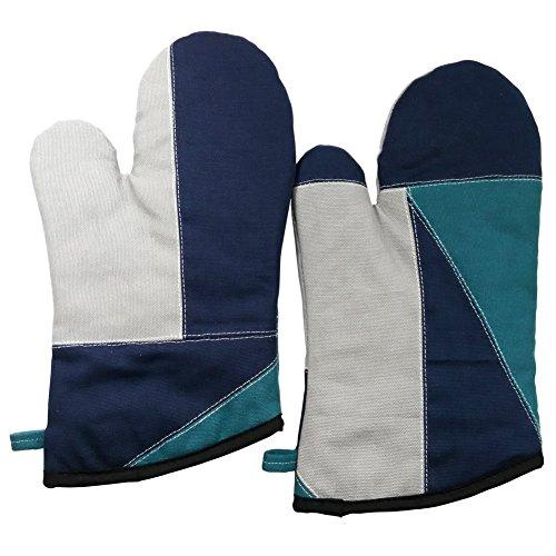 [Antike] Durable Hitzebeständige Patchwork Ofen-Handschuhe / Micro-Backofen Mitt