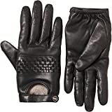 UGG AUSTRALIA RYLIE LEATHER DRIVER GLOVES COLOUR BLACK SIZE SMALL