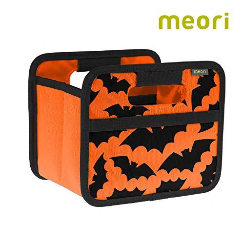 ne Orange / Halloween 16,5x12,5x14cm stabil, abwischbar, Aufbewahrungsbox Organizer Geschenkbox mit Griffen Dekoration Kleinteile Sortieren Regal ()