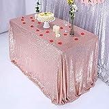 Ulmisfee Nappes de Nappe de Paillette pour Les décorations de Table de gâteau de fête d'anniversaire de Mariage, Or Rose, 40 Pouces x 72 Pouces de Rectangle