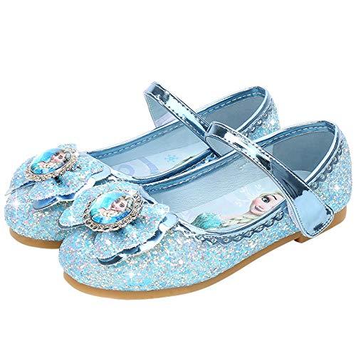 YOSICIL Zapatos de la Princesa Elsa niñas con Lentejuela Zapato de Disfraz Elsa Frozen de Princesa...