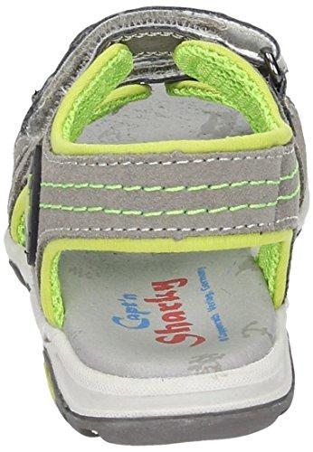 Captn Sharky 410374, Sandales ouvertes garçon grau