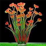 BZLine® Aquarium Dekoration Fisch Flasche grün Graspflanze Pflanzen Wasser plant