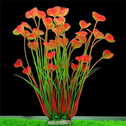 BZLine® Aquarium Dekoration Fisch Flasche grün Graspflanze Pflanzen Wasser plant (C) (Fisch-aquarium Pflanzen)