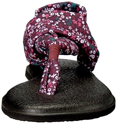 Sanuk Damen Yoga Sling#2 Prints Zehentrenner Rapture Rose Ditsy Floral