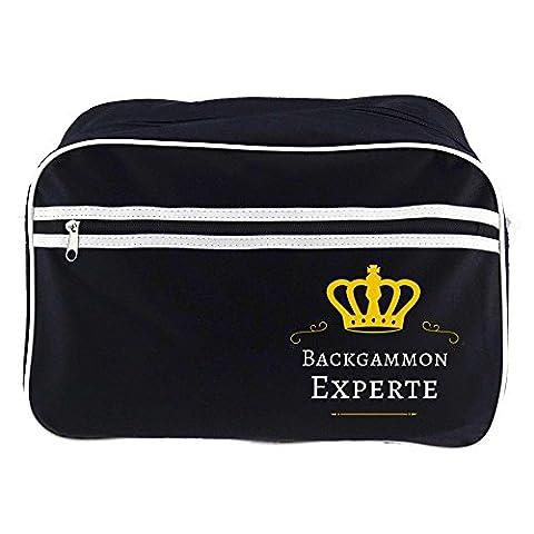 Retrotasche Backgammon Experte schwarz (Retro Backgammon)