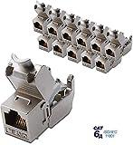 12x Assmann DN-93615 Digitus Professional Cat 6A Keystone Modul, geschirmt, werkzeugfreier Montageanschluss