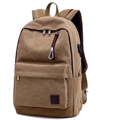 YTTY Laptop-Rucksäcke mit USB-Ladeanschluss 15 Business-Aktentasche Notebook-Rucksack / -Rucksack Damen-Schultaschen, Gelegenheitsrucksack/Tragebeutel für Outdoor-Wanderjacken, Kaffee