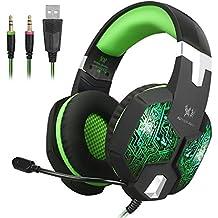 Jeecoo jc-g1000estéreo auriculares para juegos con 7colores de respiración luz LED y micrófono