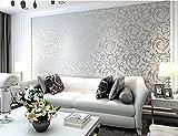 Einfache Moderne Tv - Kulisse Im Europäischen Stil 3D - Anaglyph Tapeten Wohnzimmer Schlafzimmer Vlies Tapete Silber - Grauen Wallpaper