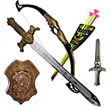 Bahubali Style Warrior Set - Archery Set, King's Sword, Shield and Dagger - Knights Fancy Dress Kids Cosplay Set