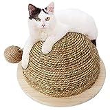 Mlec tech Rascador para Gatos con Bola Colgante de Sisal Rascadore Semi-Circular Molienda