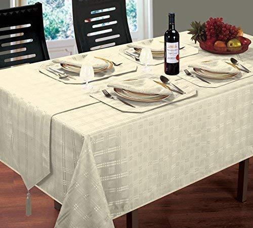 Lujoso moderno Woven Check Jacquard crema servilletas