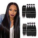 Best Brazilian Straight 4 Bundles - Brazilian Straight Hair With Closure 4 Bundles Unprocessed Review