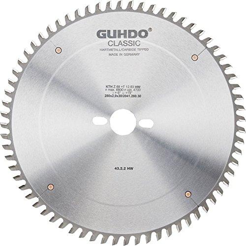 Guhdo HW Format Lame de scie circulaire 320 x 4,4 | Alésage 3,2 x 65 | Z75 TF/fabriqué en Allemagne