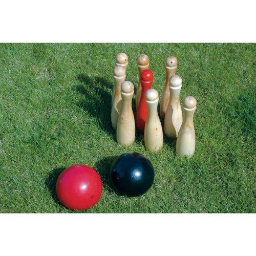 Image of King Fisher GA016 Wooden Skittles Garden Game Set