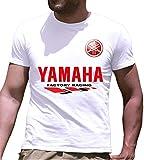 Print & Design T-Shirt Maglietta Yamaha Personalizzata Bianca (m)