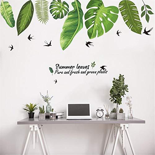 Wandsticker Tropischen Dschungel Grüne Blätter Wandaufkleber Dekoration Wohnzimmer Restaurant Meer Pflanze Schwalbe Kunst Wandbild Aufkleber