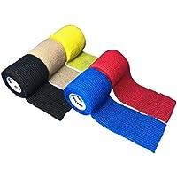 LisaCare Fixierbinde 5cm x 4,5m | 5er-Set unsortierte Farben | Kohäsive Bandage | Wundverband | Pflasterverband... preisvergleich bei billige-tabletten.eu