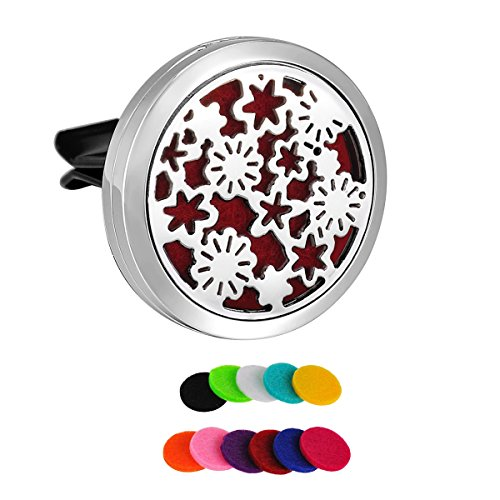 hooami-stainless-steel-flower-car-air-freshener-aromatherapy-essential-oil-diffuser-vent-clip-30mm