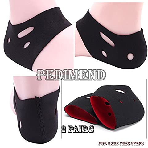 PEDIMEND MEDICAL FOOT COMPRESSION SLEEVE SOCK (2PAIRS) / Ankle Moisturizer with Air holes / Heel Protector Sock / Cracked Foot Care / Flat Foot Protector / Heel Spurs, Heel Pain, Heel Impact Shock Absorber, Treat Plantar