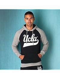 Sweat � capuche UCLA avec logo manuscrit pour homme en gris chin�