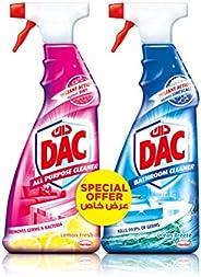 Dac Triggers Dac All Purpose Cleaner - Lemon Fresh 500ml + Ocean Breeze 500ml