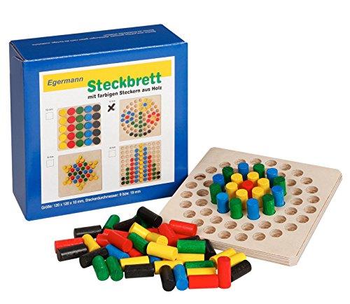 Unbekannt Egermann EH223/231 - Steckspielbrett Holzsteckspiel Kreis, Kleinkindspielzeug - Holz-puzzle Kreis
