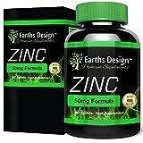 Zinc Suplemento Mineral - Gluconato de Zinc 50mg - 90 Pastillas (Suministro Para 3 Meses) de Earths Design