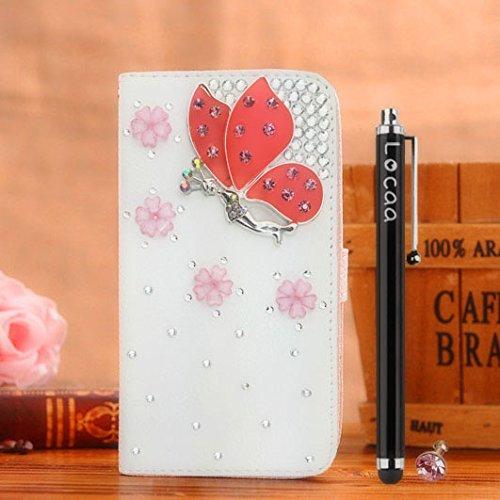 Locaa(TM) Pour Apple IPhone 7 IPhone7 (4.7 inch) 3D Bling Case Coque 3 IN 1 étuis Cuir Qualité Housse Chocs Étui Couverture Protection Cover Shell Phone Amour Love [Générale 1] paon Fée Papillon 2