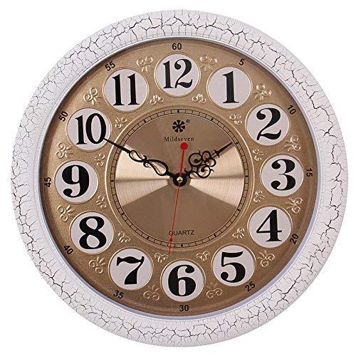 Willsego 16 Zoll Runde Chinesische Wanduhr Jugendstil Uhren Wohnzimmer Schlafzimmer Stumm Quarz...