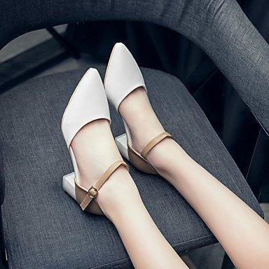 LYNXL Talloni delle donne Primavera Estate altro vestito similpelle Altri tacco grosso Blu Rosa Bianco White